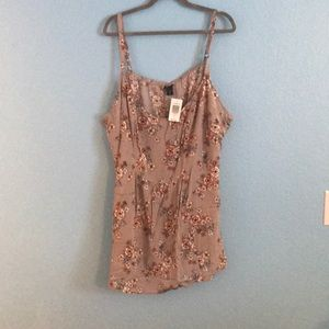 🚨SALE🚨 NWT Torrid Floral Tank Top (Size: 5)